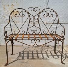 Wrought Iron Bench In Garden Stock Photo  Image 42472854Outdoor Wrought Iron Bench