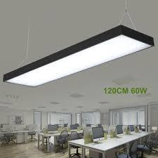 office pendant light. 120cm LED Office Pendant Light Modern Study Chandelier Panel Lamp Black N