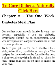 7 day diabetic meal plan diabetes one week diabetes meal plan to help you improve your blood g