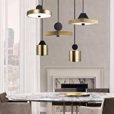nordic pendant lights modern simple hanging lamps creative metal and acrylic multi style comebo lighting led decoration lamp vintage pendant lights bedroom