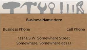 handyman business handyman business card samples