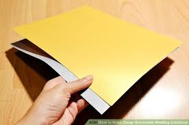ways to make cheap homemade wedding invitations wikihow image titled make cheap homemade wedding invitations step 12