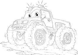 Free Coloring Pictures Monster Trucks Psubarstoolcom