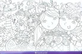 American Girl Kit Coloring Pages For Kids With American Girl Doll
