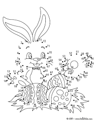Exceptional Easter Dot To Coloring Pages 1 10 Printable Activities