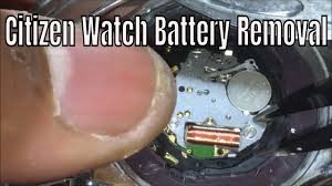 Citizen Watch Battery Replacement Chart How To Replacethe Battery On Your Citizen Eco Drive Capacitor Solar Watch Battery