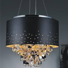 appealing modern pendant chandelier contemporary light fixtures drum with crystal chandeliers astonishing round lighting canada zylinder lights black