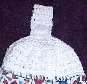 Crochet Towel Topper Pattern Extraordinary CROSS STITCH TOWEL TOPPER Crochet Pattern Free Crochet Pattern