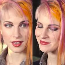 hayley williams makeup gray eyeshadow red eyeshadow red lipstick steal her style