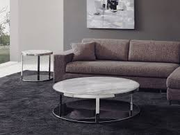 white round table with contemporary design and solid white countertop for living room table ideas