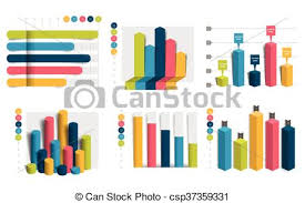 Set Of Charts Graphs Simply Color Editable Infographics Elements