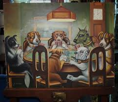 dogs playing pool tapestries