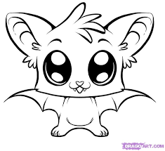 cute animal drawings. Exellent Cute Cute Coloring Pages  How To Draw A Bat Step 6 Cute Animal Drawings With Drawings U