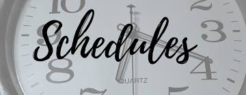 Image result for schedules