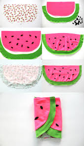 how to make an easy baby blanket watermelon baby blanket diy