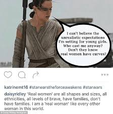 star wars daisy ridley shares powerful instagram message about  standing up for women the instagram user shared this image and the actress hit back