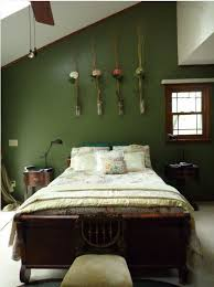 green room furniture. dark green wall love the color note mahogany furniture wood trim on windows light bedspread and flooring room r