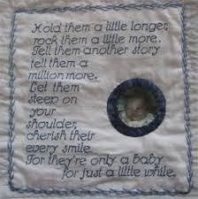 10 best images about Labels...sew pretty on Pinterest | Circle ... & Label for an infant memory quilt. The quilt was also beautiful. Adamdwight.com