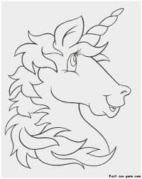 Printable Unicorn Coloring Pages Marvelous Print Out Unicorn Head
