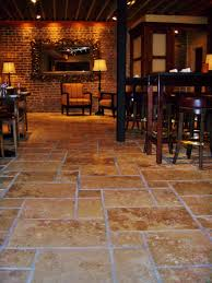 Tile For Restaurant Kitchen Floors Travertine Floors Set In The Versaille Pattern At A Downtown