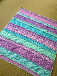 Good idea if we were to have a bunch of boys (or girls, for that ... & baby rag quilt for a purple and teal nursery with fabric cut into strips  easy and fun. The more it is washed the softer it will be with a flannel  lining. Adamdwight.com