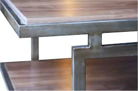 walnut coffee table metal base as modish