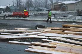 johnson city street department crews placed traffic cones around a tractor trailer wreck wed march