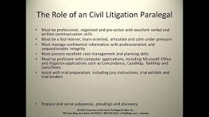 Civil Litigation Paralegal
