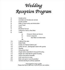 Wedding Program Templates Free Word Wedding Program Template Free Word Documents Reception Sample
