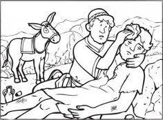 Small Picture Printable Coloring Page for Parable of the Good Samaritan