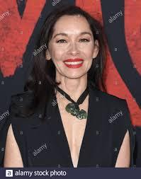 Liz Tan arrives at the Disney's MULAN World Premiere held at the ...