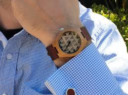 tree hut bamboo leather watch mod small