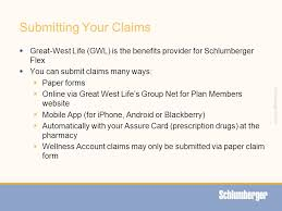 42 schlumberger private submitting your claims great west life