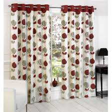 Printed Curtains Living Room Curtains Patterned Grommet Curtains On Sale Red Grommet Curtains