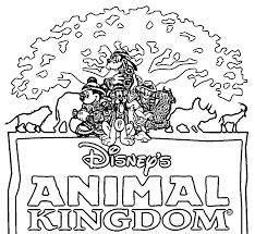 Animal Kingdom Disney Text Coloring Page Wecoloringpage Coloring