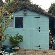 re vamp your shed with duck egg blue paint