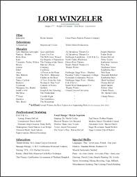 Sample Child Actor Resume Theatrical Format Acting Templates Special