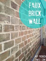faux brick wall myfrenchtwist com