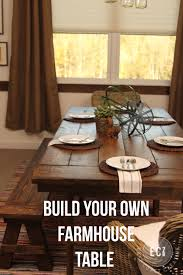 farmhouse table build diy mason jar chandelier