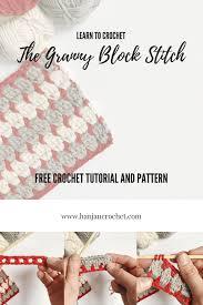 Block Stitch Crochet Pattern Amazing Inspiration