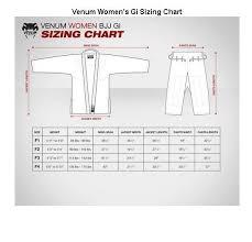 Venum Women S Gi Size Chart Venum Challenger 2 0 Womens Jiu Jitsu Gi Cotton Pants