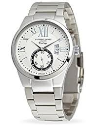 amazon co uk watch deals special offers anthony james vintage white men s dress watch smart durable design for the modern man silver metal case