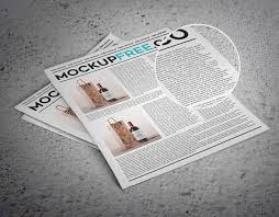 Newspaper Newsletter Free Psd Mockup Css Author