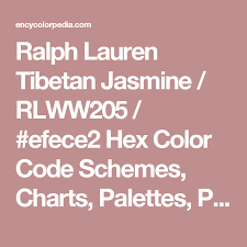Cmyk Color Chart Gorgeous Ralph Lauren Tibetan Jasmine RLWW44 Efece44 Hex Color Code