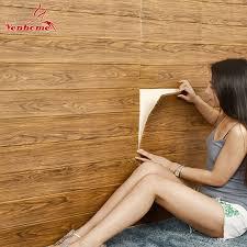 3d wooden wall sticker home decor pe