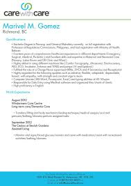 Caregiver Resume Healthcare How To Write A Caregiver Resume