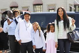 simmons kids. kimora lee, djimon hounsou and russell simmons take the kids to white house easter egg roll