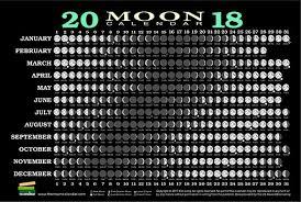 2018 Moon Chart Image Result For 2018 Full Moon Chart Moon Calendar Full