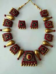Funky Necklace Designs Styles Jvelari Terracotta Jewellery Designs Terracota