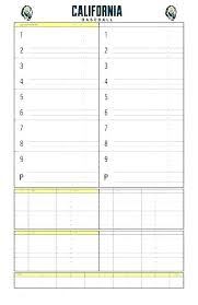 Baseball Lineup Board Softball Little League Batting Order